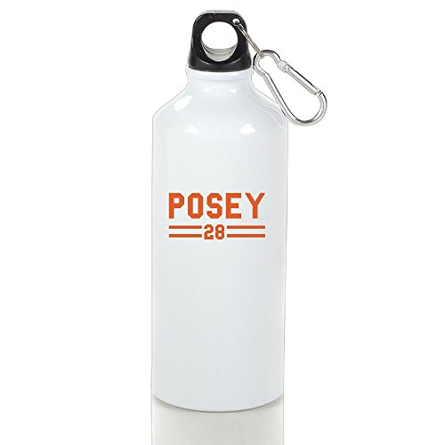 ZOENA San Francisco Buster Posey Giants Baseball #28 Portable Custom Outdoor Sport Kettle Cups White With Carabiner Hook,400-600ml /6.5OZ (Sf Giants Jersey Custom compare prices)