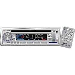 See Pyle PLCD3MR Marine CD/MP3 Player - 160 W RMS - Single DIN LCD Display - CD-R - CD-DA MP3 - AM FM - 18 12 x FM AM Preset - Secure Digital (SD) Card - USB - Auxiliary Input - NEW - Retail - PLCD3MR Details
