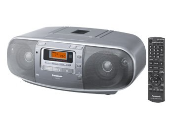 Panasonic RX-D50 - 4 Speaker CD AM/FM Radio Cassette Recorder Boombox with MP3 Player and Music Port 110V/220V Dual Voltage for Worldwide Use - Remote Included