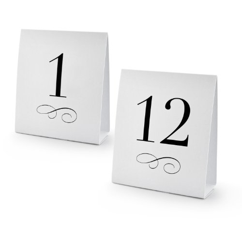 New Star 27952 Table Number Tent Style Card, Set of Numbers 1 to 12 (Table Number Place Cards compare prices)
