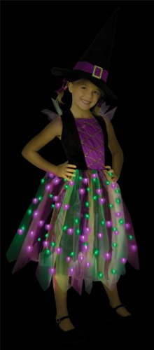 Light-Up Rainbow Witch Child Costume (As Shown;Large)