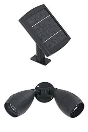 brightest dual solar floodlight with surface mount flood. Black Bedroom Furniture Sets. Home Design Ideas