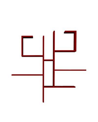 HOMEMANIA Mensola A Muro Evo Rosso
