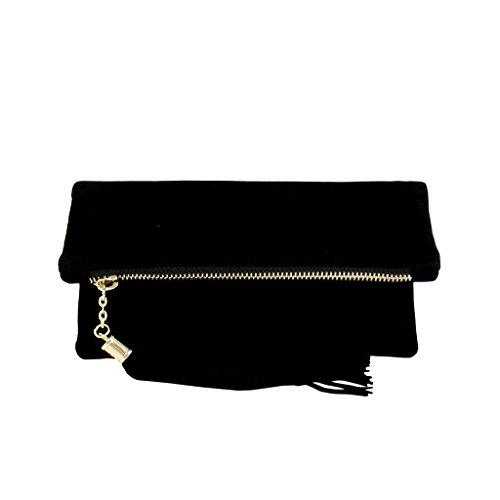 jnb-womens-microsuede-foldover-mini-pouch-black