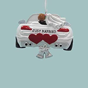 KURT ADLER WEDDING CAR ORNAMENT
