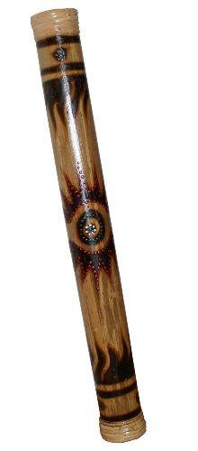 Bamboo Rainstick Burnt Sketch Sun Design, 16