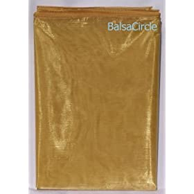 Square Gold Sheer Organza Overlay 72""