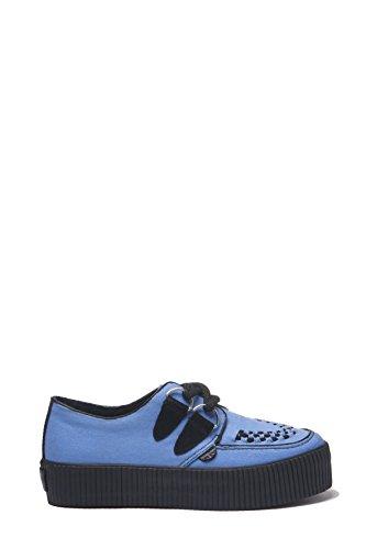 UNDERGROUND CREEPERS SNEAKER, sneakers in tela, stringate, azzurro, misura 39