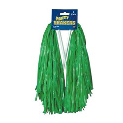 Pkgd Green Poly Shakers - 512 Strand   (2/Pkg)