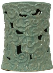 Urban Trends 70629 Decorative Ceramic Garden Stool Blue picture