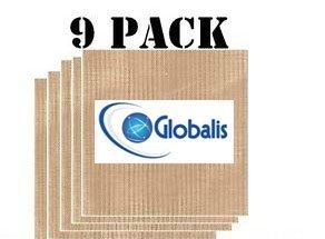 globalis- supérieure Lot de 9Super, feuilles Déshydrateur alimentaire réutilisables en téflon dupont anti-adhésif pour Excalibur 2500, 2900, 3500, 3900ou 3926t. Feuille mesure 35,6x 35,6cm compatible avec Excalibur 5plateaux et 9.