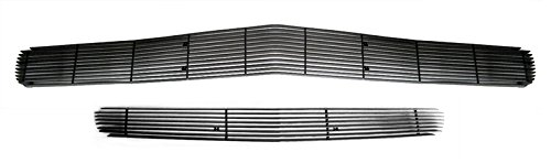 MaxMate 11-2014 Dodge Challenger 1PC Upper Replacement +1PC Lower Bumper Bolton Grille Black Billet Grille Grill Insert (2014 Dodge Challenger Grill compare prices)