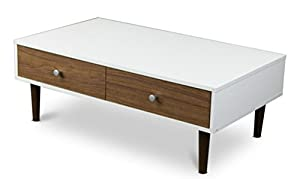 Contemporary White Coffee Table With Storage For Your Modern Living Room Furniture