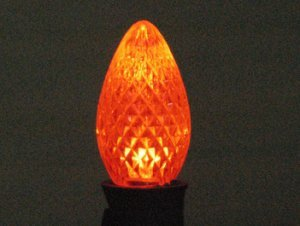 Orange Twinkle C7 Led Retrofit Christmas Bulb Replacement