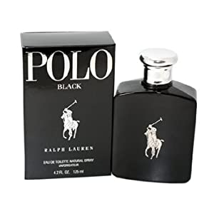 Polo Black By Ralph Lauren Mens Eau De Toilette (EDT) Spray 4.2 Oz