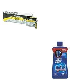 KITEVEEN91RAC78826 - Value Kit - Finish Jet-Dry Rinse Agent (RAC78826) and Energizer Industrial Alkaline Batteries (EVEEN91)