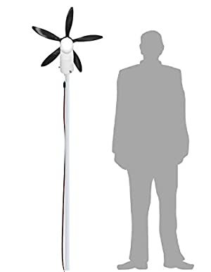 Cutting Edge Power 33W 12V and USB Cyclone Swivel Wind Turbine Generator Windmill, Small and Portable, for RV, Camping, Tailgating, Lightweight
