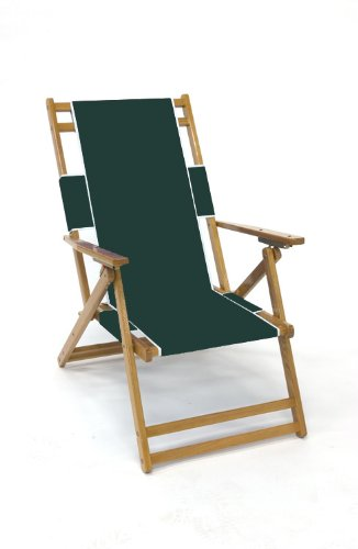 Heavy Duty Folding Wood Beach Chair No Footrest