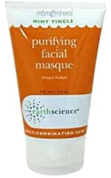Purifying Facial Masque, Oily/Combination Skin, Mint Tingle, 4 fl oz (118 ml) by Earth Science
