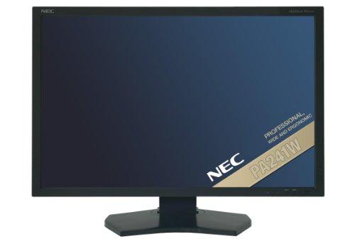 NEC MultiSync PA241W 24 inch LCD TFT Monitor (1000:1, 360 cd/m², 1920 x 1200, 8ms, DVI-D (Black))