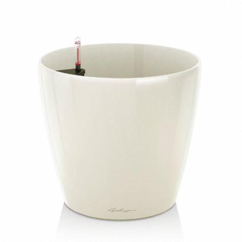 Vaso in Resina per Piante Lechuza Classico Premium 28 Set Completo - BIANCO LUCIDO
