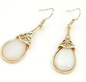 Simple Women Women39s Metallic Crescent Hoop Earrings  Gold  Old Navy