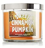 BATH & BODY WORKS Sweet Cinnamon Pumpkin scented, 3 wicked, 14.5oz candle