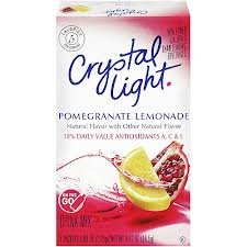 Crystal Light On The Go, Pomegranate Lemonade, 7-Count Boxes (Pack of 6)