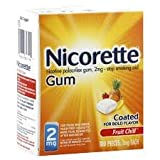 Nicorette Gum Fruit Chill 100ct 2mg