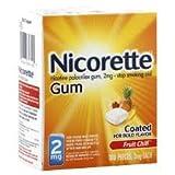 Nicorette Gum Fruit Chill 100ct 2mg