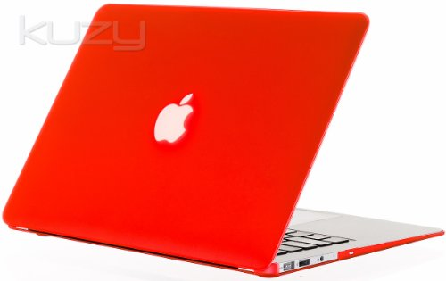 #!  Kuzy - AIR 13-inch RED Rubberized Hard Case Cover SeeThru for Apple MacBook Air 13.3