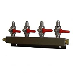 Co2 Distribution Manifold - MFL (Threaded) Connections (4-way)