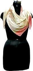 Selfiwear SW-1380 Peach Sequined Silk Scarf