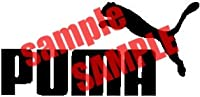 Puma Clothing White Vinyl Decal Sticker by ADS
