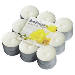 Bolsius Aromatic Scented Tea Lights - 18 Pack Freesia - 103626949347 from Bolsius