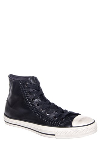 Converse by John Varvatos Men's Ct All Star Woven Leather Hi Top Sneaker