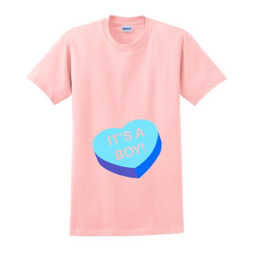 It'S A Boy Maternity Themed T-Shirt Small Lt. Pink front-936147