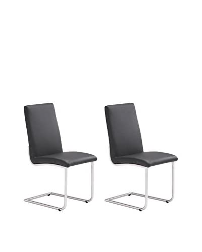 Zuo Modern Mont Royal Set of 2 Dining Chairs, Black