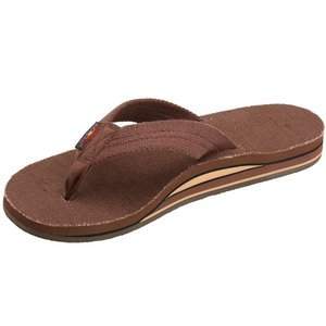 Womens Rainbow Sandals Hemp Double Stack Wide Strap