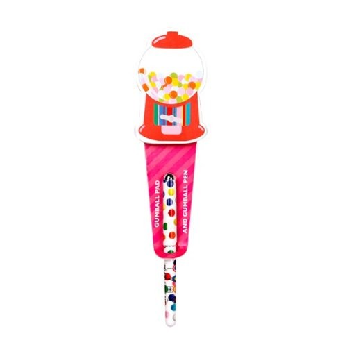 Dylan's Candy Bar Notepad with Pen - Gumball Machine