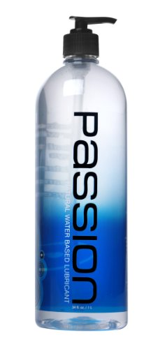 Passion Lubes, Natural Water-Based Lubricant, 34 Fluid Ounce