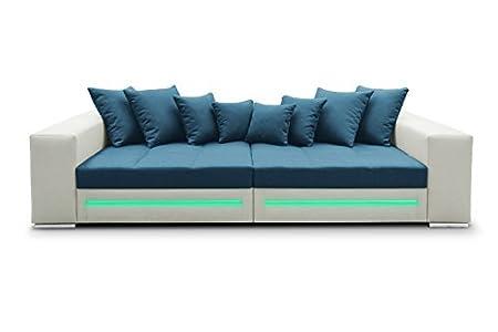Ecksofa Safir Eckcouch Sofa Couch Bigsofa Big XXL Schlafsofa LED 01355