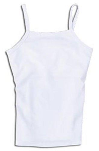 Dragonwing girlgear Girl's Un-Tee Sports Cami Tank Top with Shelf Bra, Small (10), White