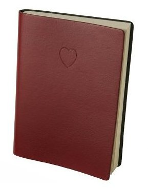 Leather Red Heart Journal