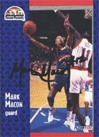 Mark Macon Denver Nuggets 1991 Fleer Autographed Hand Signed Trading Card - Rookie... by Hall+of+Fame+Memorabilia
