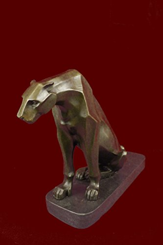 Handmade European Bronze Sculpture Henry Moore Modern Art Abstract Jaguar Panther Cougar Lion Sale(3XDW-177)Statues Figurine Figurines Nude Office & Home Décor Collectibles Deal Gi