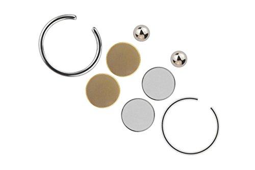 piercing-schmuck-fake-magnet-silberfarbig-kugel-8-teiliges-set