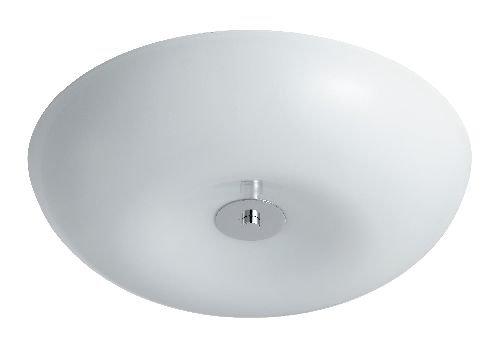 Oriva 49230 Deckenlampe, H 7 cm, B 32 cm, 1 x T5, Satin-Optik/weiß