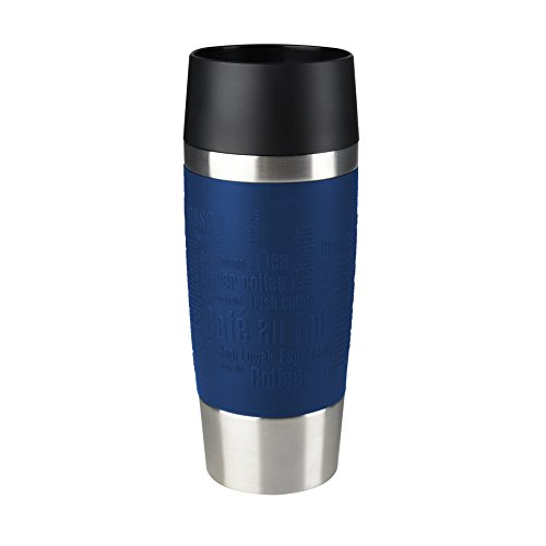 Emsa 513357 Insulated Travel Mug 0.36 L with Sleeve Blue