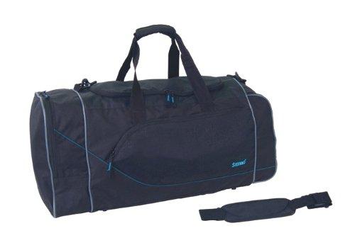 Große Sporttasche Reisetasche schwarz 65 x 30x